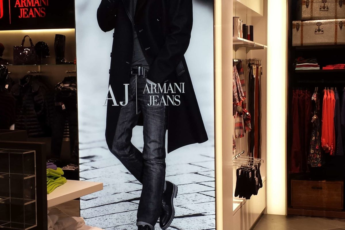 International Duty Free - FyBox - lightbox Armani Jeans