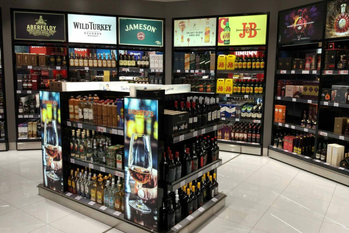 International Duty Free - FyBox - lightbox alcohol