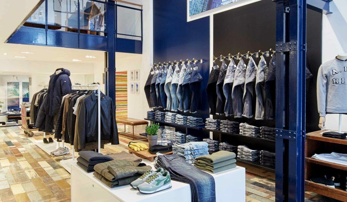 Denham jeans maker - FyBox - caisson lumineux