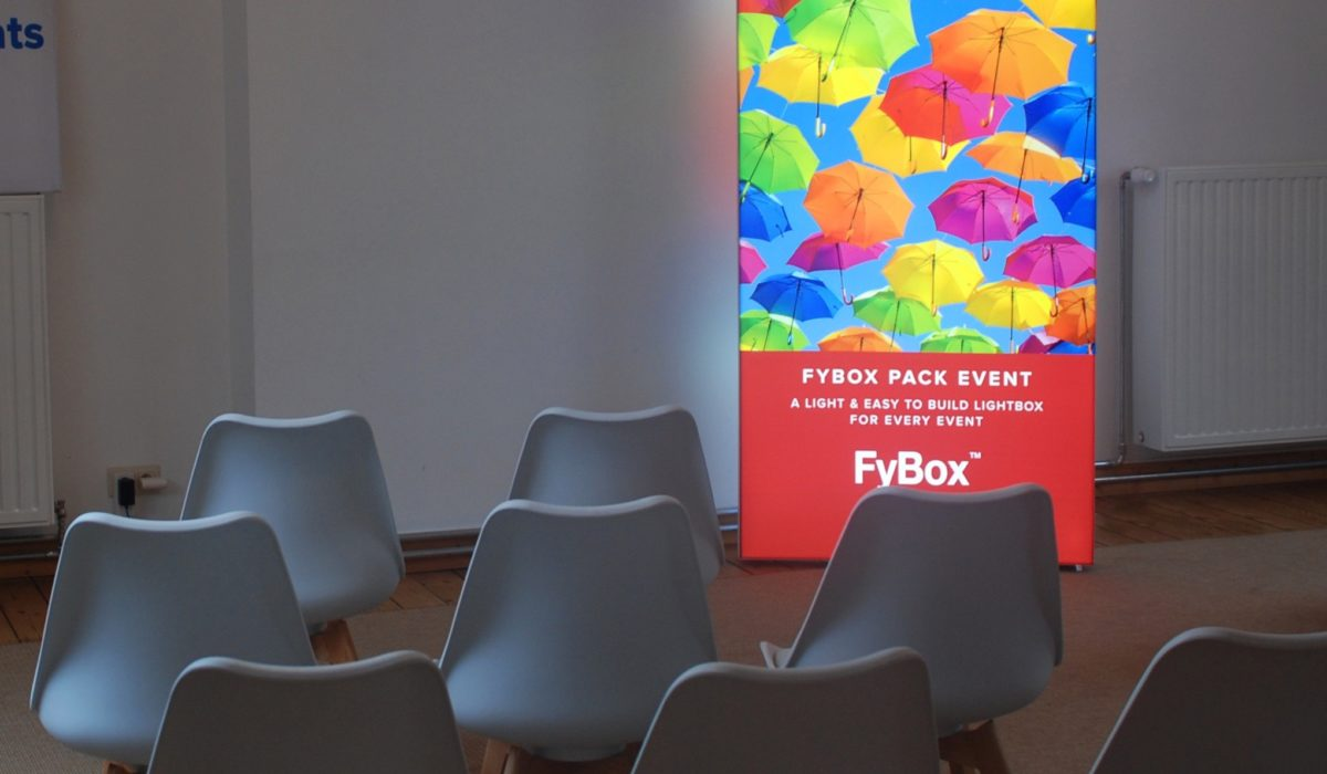 LED light box product range Fybox pack event